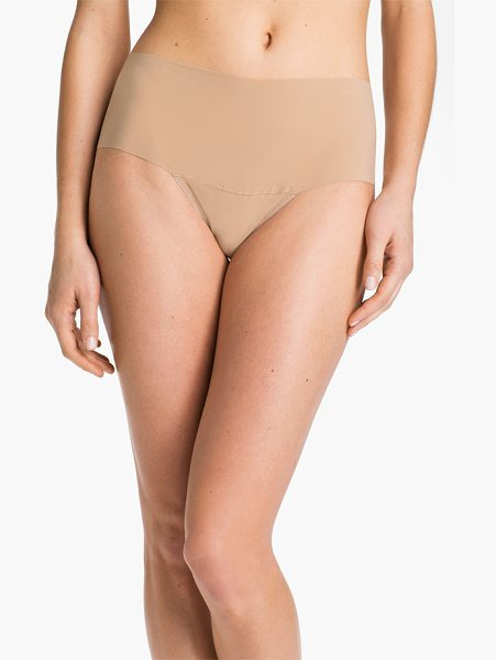 Hanky Panky 'bare in taupe - A sleek high-rise thong cut from a unique second-skin...