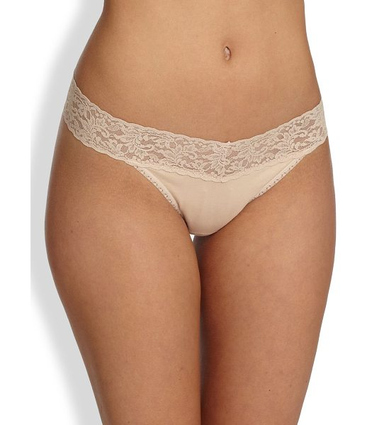 HANKY PANKY original thong - Organic cotton-spandex jersey with a signature stretch...