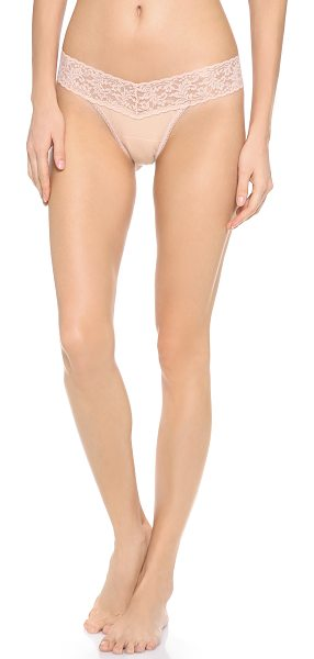 Hanky Panky cotton with a conscience petite low rise thong in chai