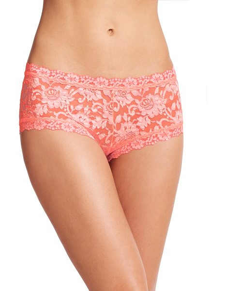 Hanky Panky cross-dye boyshorts in peachfizz