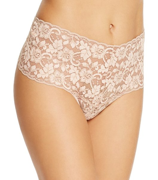 Hanky Panky Cross-Dye Retro Thong in taupe/vanilla - Hanky Panky Cross-Dye Retro Thong-Women