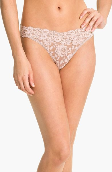 Hanky Panky cross dyed regular rise thong in taupe/ vanilla - Contrasting cross-dyed patterning lends rich, pretty...