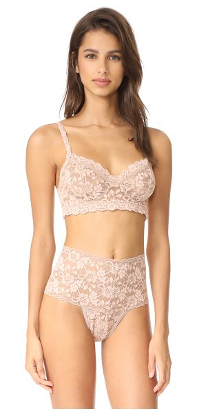 Hanky Panky cross dyed retro bralette in taupe/vanilla - A signature Hanky Panky bralette in two-tone lace....