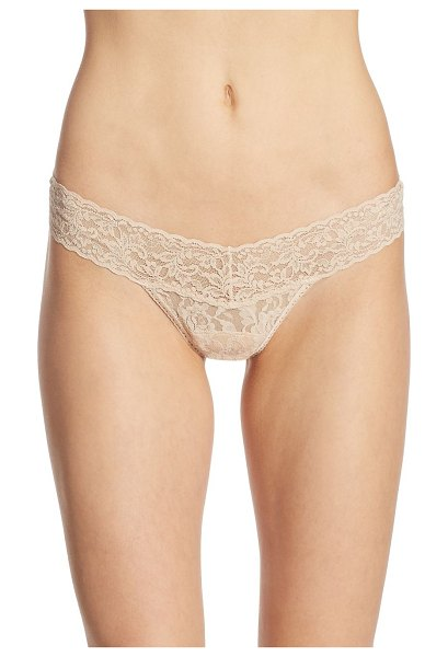 Hanky Panky signature low-rise lace thong in chai