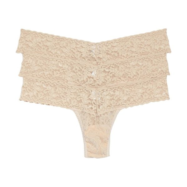 Hanky Panky low rise thong in chai - Classic colors style low-rise thongs made from soft and...