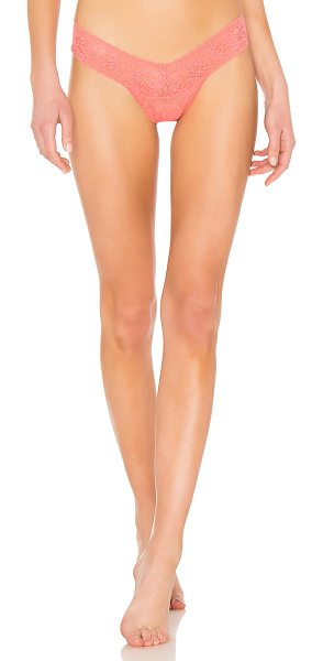 Hanky Panky Low Rise Thong in coral - Self: 100% nylonCombo: 90% nylon 10% spandexLining: 100%...