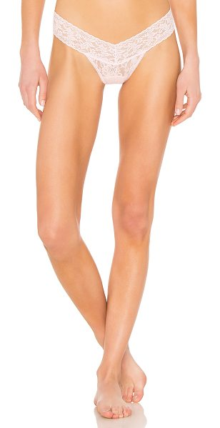 Hanky Panky Low Rise Thong in pink - Self: 100% nylonCombo: 90% nylon 10% spandexLining: 100%...
