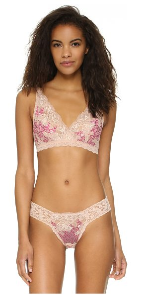 HANKY PANKY Luscious rose bralette - A Hanky Panky bralette in a mix of patterns. Elastic...