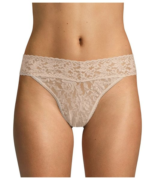 Hanky Panky original rise lace thong in chai