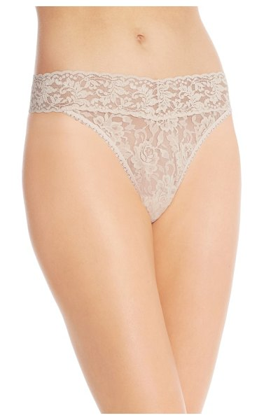 Hanky Panky original rise thong in brown - Fabulously soft and stretchy lace panties feel great on...