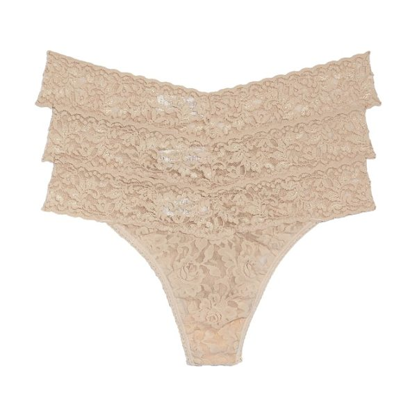 Hanky Panky original rise thong in chai - Classic colors style regular-rise thongs made from soft...