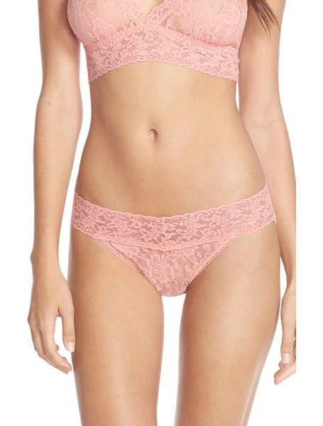 Hanky Panky signature lace in ballet pink - Signature stretch-lace style combines the flattering fit...