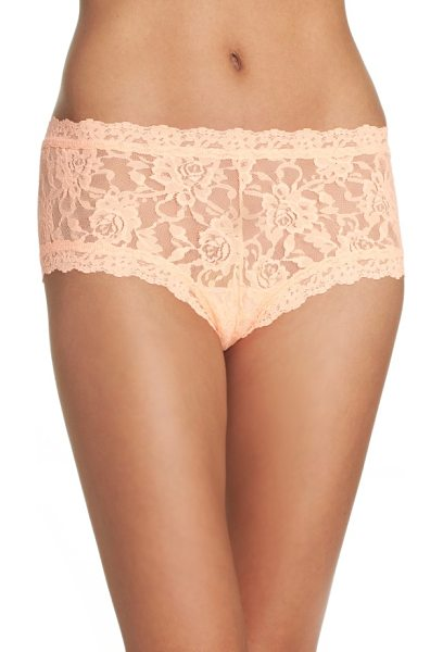 Hanky Panky signature lace boyshorts in peach smoothie - Fantastic comfort, flirty style, flattering fit: These...
