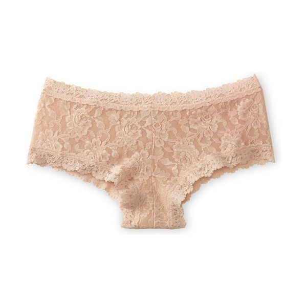 Hanky Panky 'signature lace' boyshorts in chai - Fantastic comfort, flirty style. Supersoft stretchy lace...