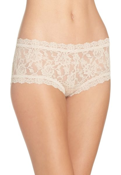Hanky Panky signature lace boyshorts in brown