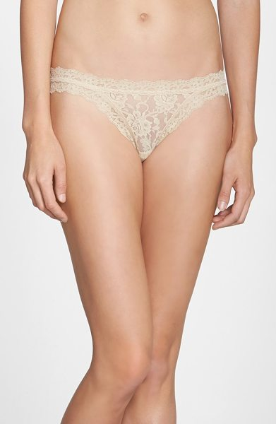 HANKY PANKY signature lace brazilian bikini - A cheeky, low-rise Brazilian cut spices up Hanky Panky's...