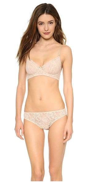 Hanky Panky signature lace glam bra in chai