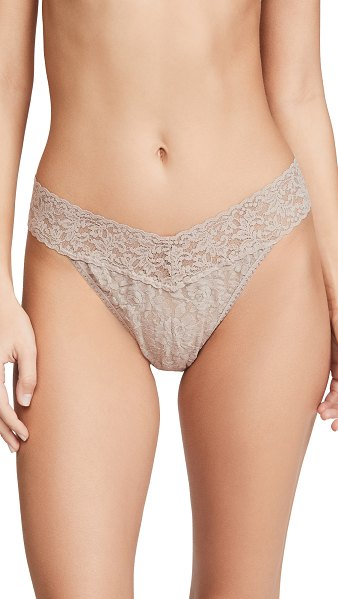 Hanky Panky signature lace original rise thong in taupe