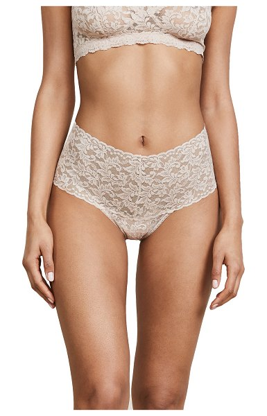Hanky Panky signature lace retro thong in chai