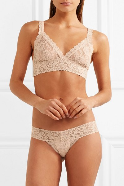 Hanky Panky signature stretch-lace soft-cup bra in beige