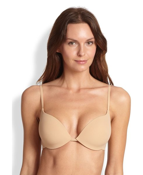 Hanro deep plunge padded bra in nude - A sexy and sophisticated essential designed with...