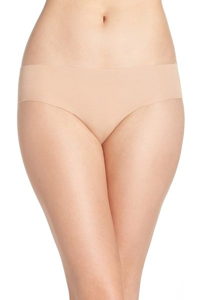 Hanro invisible stretch cotton hipster panties in beige