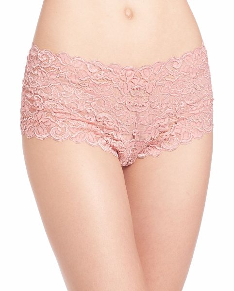 Hanro Luxury moments lace boyshorts in mellowrose