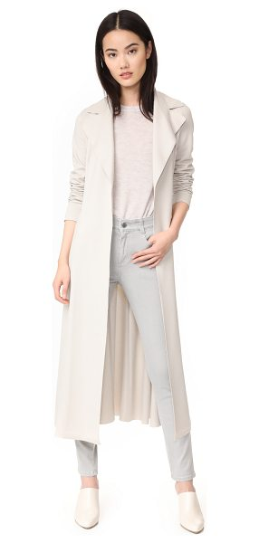 Harris Wharf London long duster coat in ecru - A sophisticated Harris Wharf London duster with timeless...