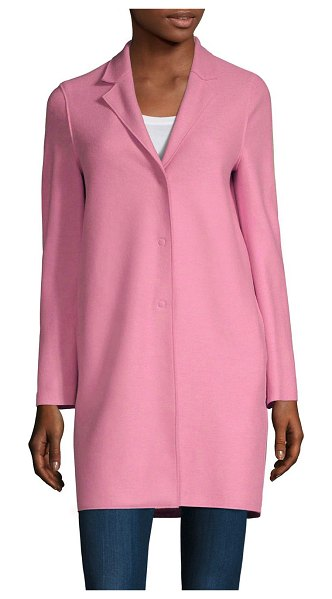 Harris Wharf London wool trench coat in candy - Boxy trench flaunts a fine wool fabrication that exudes...