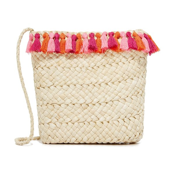 Hat Attack festival cross body bag in pink - Vibrant tassels trim this woven straw Hat Attack...