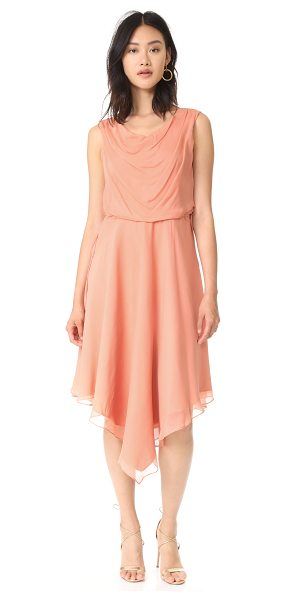 Haute Hippie anastasia dress in flirt pink - A diaphanous Haute Hippie dress in fine silk. Inset...