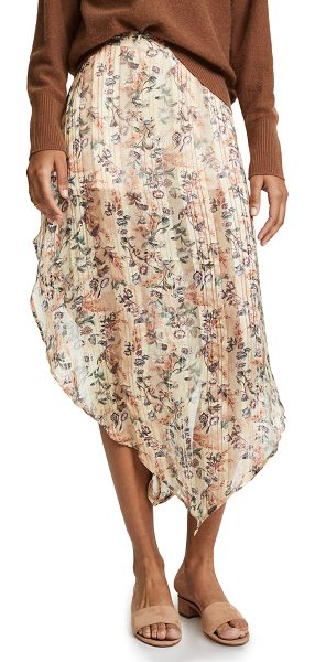 Haute Hippie anastasia slayer skirt in sandra - A bold Haute Hippie floral skirt with a rounded hem and...