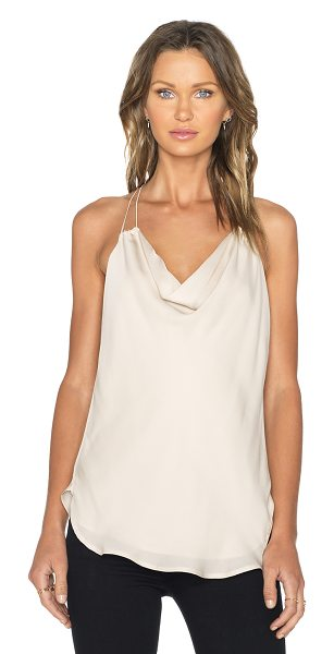 Haute Hippie Cowl neck tank in tan - Self: 100% silkLining: 100% poly. Dry clean only....