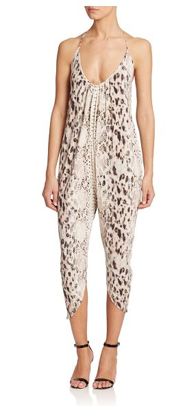 HAUTE HIPPIE Cropped halter jumpsuit - Crafted in soft modal, an allover exotic print adds a...