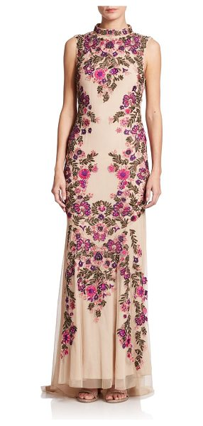 HAUTE HIPPIE Embroidered sleeveless gown - Haute Hippie designs statement pieces with a feminine...