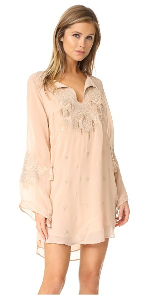 Haute Hippie romanian embroidered dress in buff - Tonal embroidery accentuates the eclectic style of this...