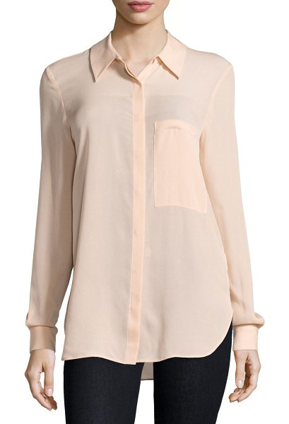 "Haute Hippie The husband button-front shirt in peach - Haute Hippie ""The Husband"" woven shirt. Approx. length:..."