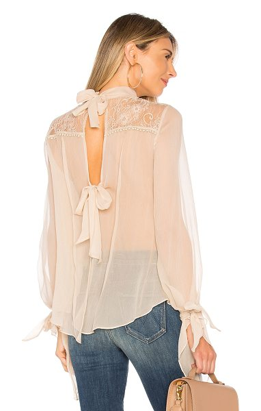 Haute Hippie The Lace Garden Top in cream
