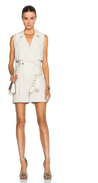 Haute Hippie Trench safari romper in neutrals - Self: 60% triacetate 40% poly - Lining: 100% poly.  Made...