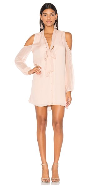 Haute Hippie Vida Cold Shoulder Dress in pale pink - Self: 100% silkLining: 95% poly 5% elastane. Dry clean...