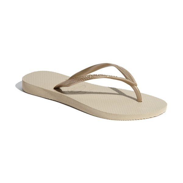 HAVAIANAS slim flip flop - Classic all-rubber flip-flop features an updated slim...