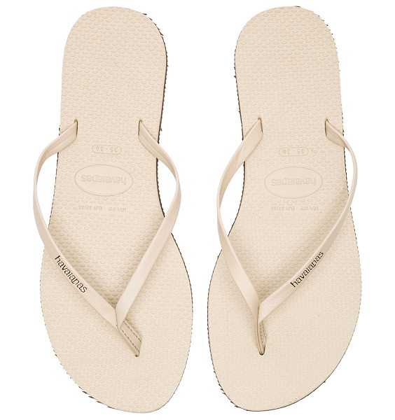 Havaianas You Flip Flop in beige - Leather upper with rubber sole. HAVA-WZ145. 4133206...