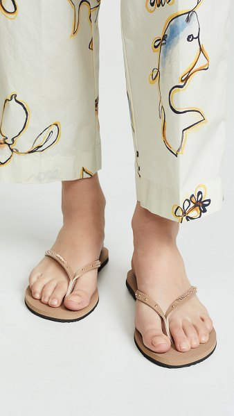 Havaianas you maxi flip flops in rose gold