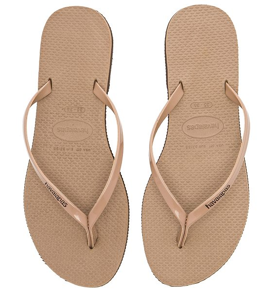HAVAIANAS You Metallic Sandal in metallic copper - Rubber upper and sole. HAVA-WZ180. 4135102. Summer maybe...