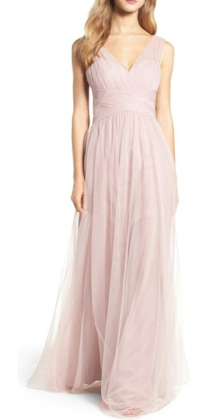 Hayley Paige Occasions illusion gown in dusty rose - A gathered-tulle gown is designed for universal flattery...