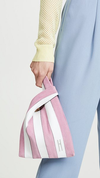 Hayward mini shopper bag in pink/white