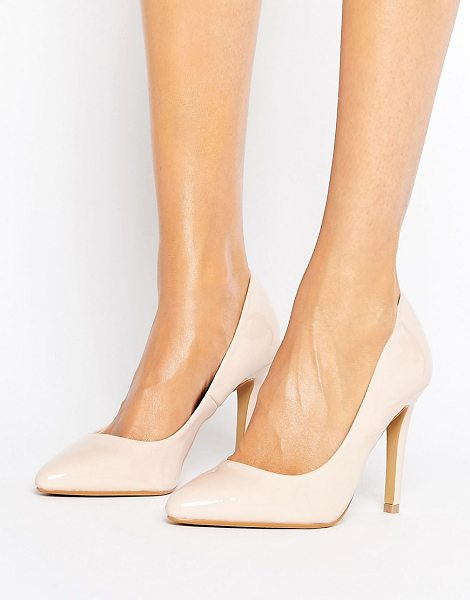 "HEAD OVER HEELS Head Over Heels By Dune Alice Patent Heeled Pumps - """"Heels by Head Over Heels by Dune, Faux-leather upper,..."