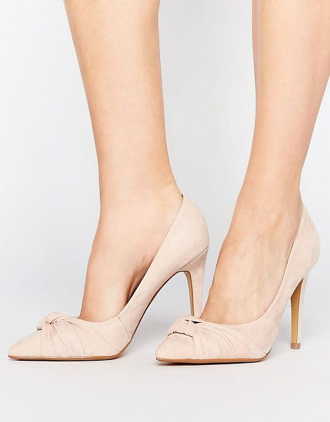 """Head Over Heels Head Over Heels By Dune Arria Knot Point Pumps in beige - """"""""Shoes by Head Over Heels by Dune, Textile upper,..."""