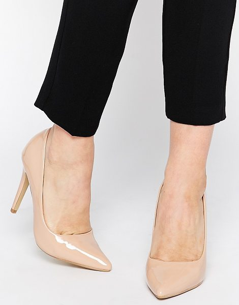 HEAD OVER HEELS By Dune Audrine Patent Nude Pumps - Heels by Head Over Heels By Dune, Glossy patent...