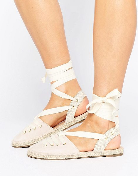 HEAD OVER HEELS Head Over Heels By Dune Giah Tie Detail Espadrilles - Espadrilles by Head Over Heels by Dune, Textile upper,...